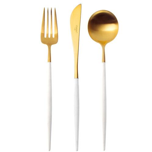 Cutipol galda piederumu komplekts GOA White&Gold 24gb.