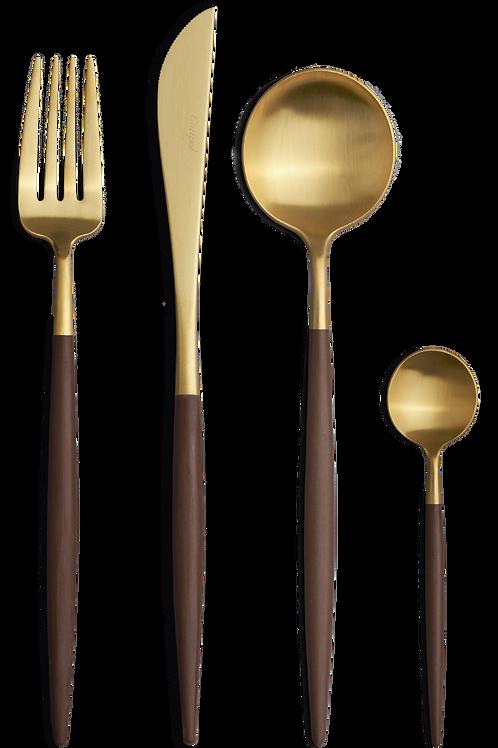 Cutipol galda piederumu komplekts GOA Brown&Gold 24gb.