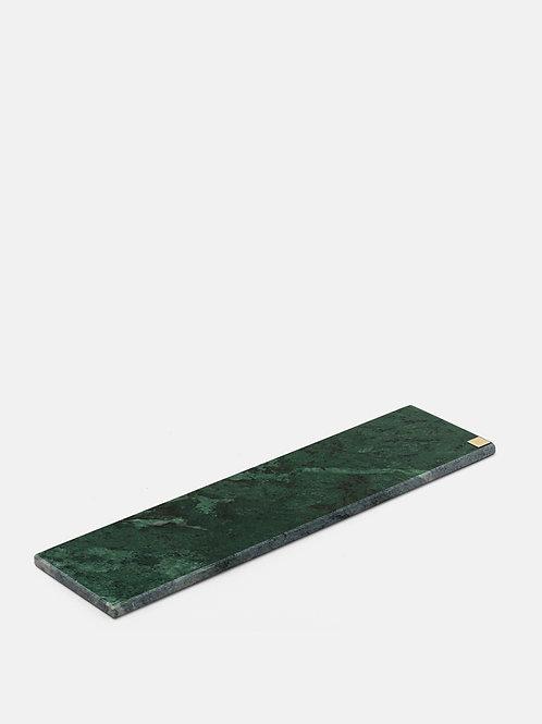Zaļa marmora paliktnis garens