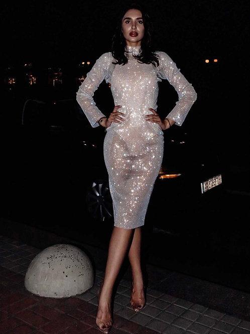 Hollywood Midi White Dress