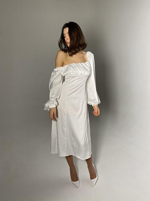 Verona Midi White Dress