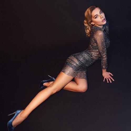 Hollywood Midi Black Dress