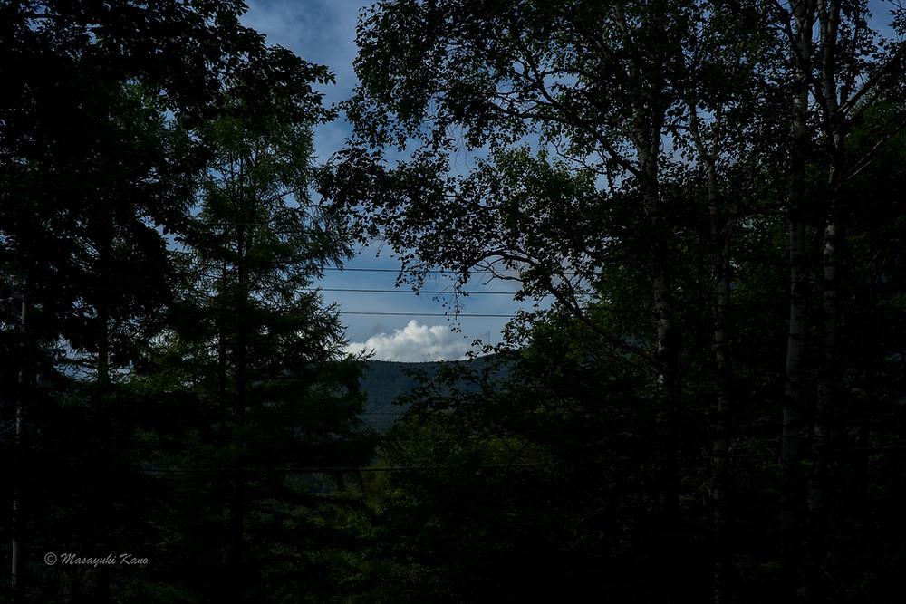 蓼科高原ペンション・サンセットの正面の風景です。