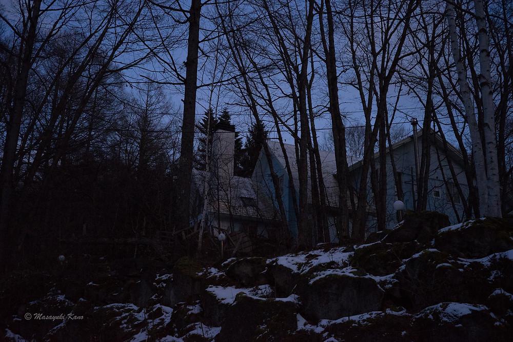 珍しいアングルから撮った蓼科高原ペンション・サンセットです。