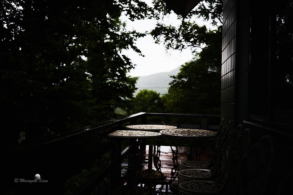 夕方からしだいに雨が降り始めた蓼科高原
