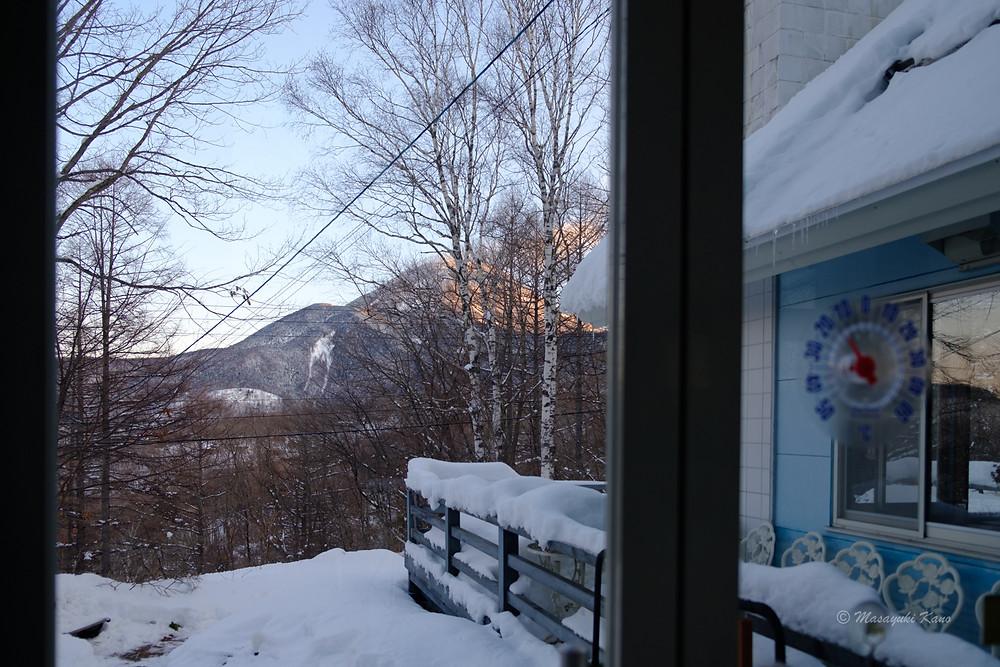 蓼科高原は氷点下16℃の朝焼けがとても綺麗な朝でした。
