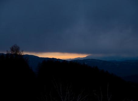 今夜から雪の予報 蓼科 ブログ
