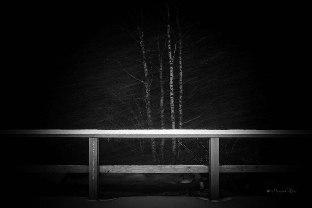 雪の季節を迎えた蓼科高原標高1700メートル