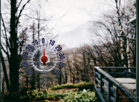 突然の冬ような気候に驚いた日
