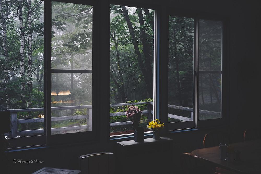 この時節、朝は雨が降ることが多いけれど、昼間は晴れることが多い蓼科高原