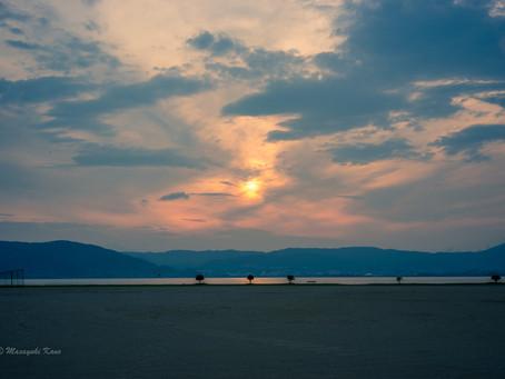 蓼科高原日記/諏訪湖の夕景