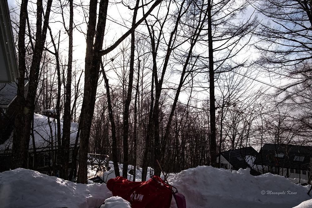 氷点下16℃の朝焼けも、天気なのに吹雪いている氷点下10℃の夕焼けもとても綺麗でした。