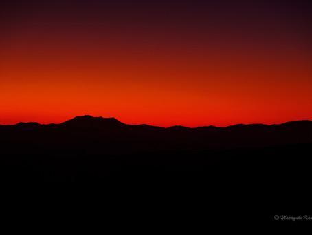 夕陽の美しい季節です 蓼科高原