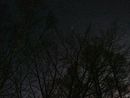 満月の夜 氷点下12℃ 蓼科 ブログ