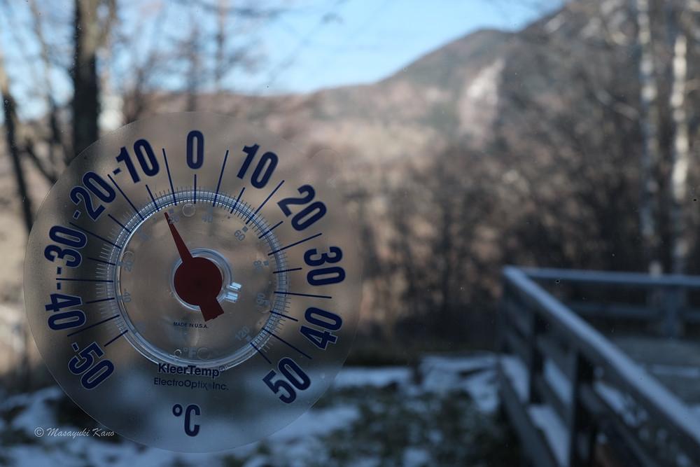 最低気温も最高気温も氷点下です。