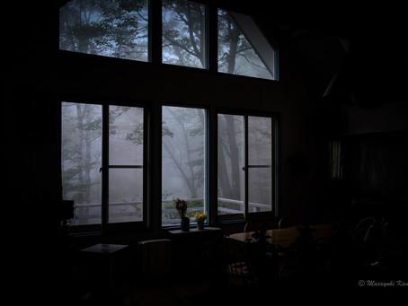 静寂の中、雨を聴く。