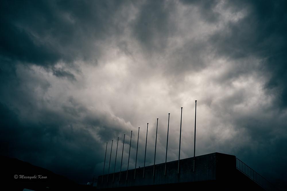 蓼科高原|茅野市|ペンション・サンセット|諏訪湖の空