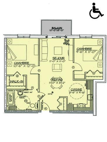 Appartement 4 1/2 (786 p.c.)