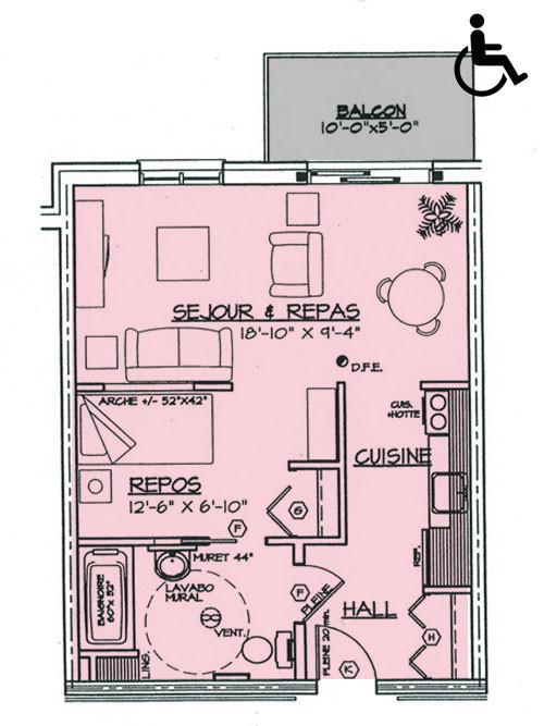 Appartement 2 1/2 (481 p.c.)