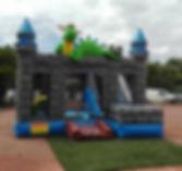 château gonflable, château dragon