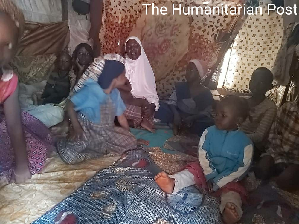 A make shift hut which houses a mother, father and nine children at the Durumi IDP Camp in Abuja, Nigeria