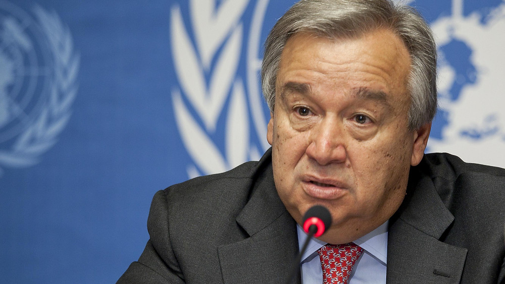 Antonio Guterres, UN Secretary General speaks on Slave Trade Abolition