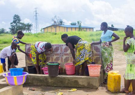 IOM water facilities help resettled communities fight COVID-19 in Sierra Leone