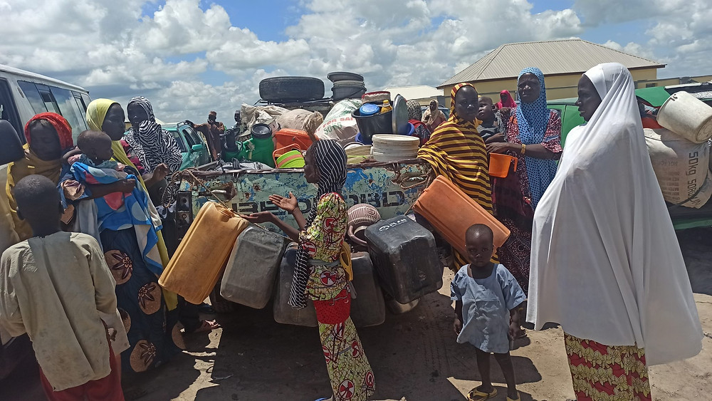 The displaced persons being resettled
