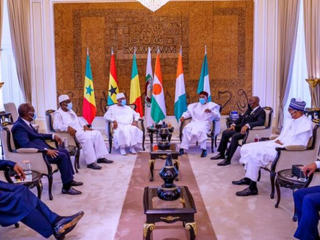 Mali Coup: ECOWAS Heads of State to hold extraordinary summit on Thursday