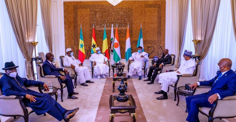 West African Leaders at a meeting in Bamako, Mali