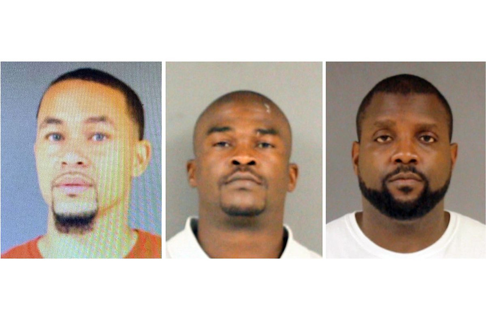 The three Mississipi Policemen charged with murder for death of 61 year old black man  - Photo source: NY Daily News