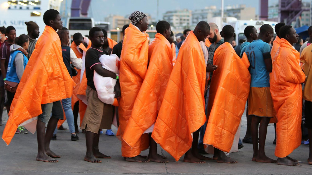Stranded migrants finally rescued after 40 days at sea