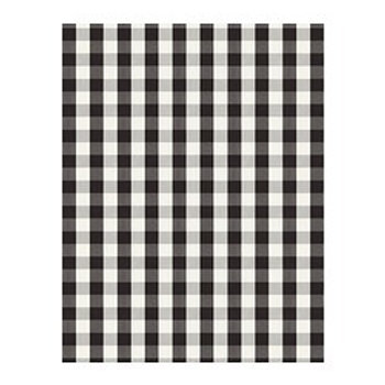 Kivik footstool-Checkered Pattern: Berta black