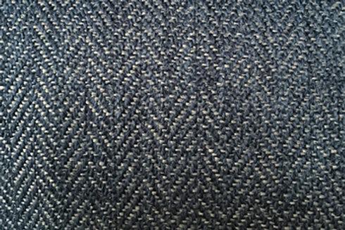 Kramfors footstool-Herringbone 9438 blue