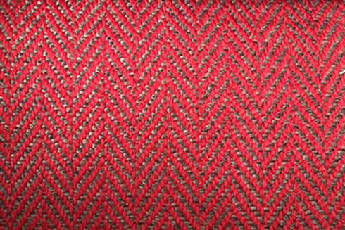 Kivik footstool-Herringbone 9435 red