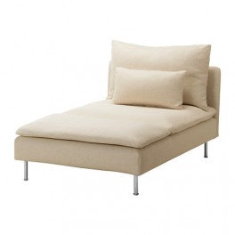 Slipcover for Soderhamn Chaise Lounge: Suede