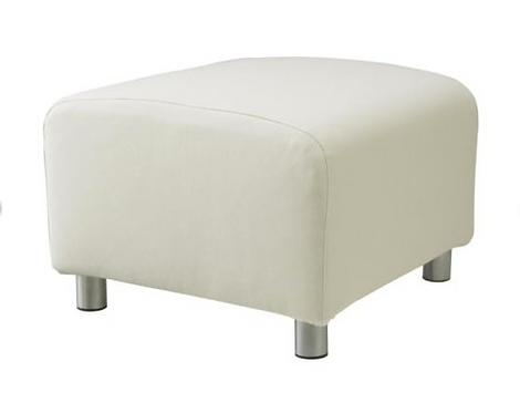 Slipcover for Klippan footstool: Suede