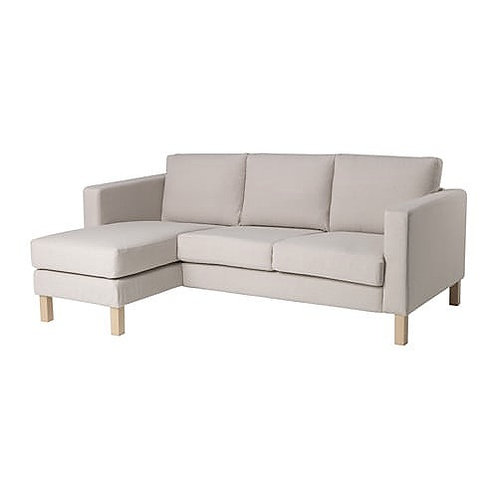 Slipcover for Karlstad 3 seat with Chaise Lounge sofa: Panama