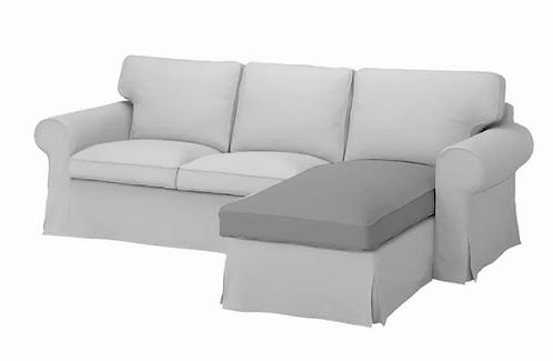 Seat cushion for Ikea Ektorp 3 seat sofa with Chaise Lounge