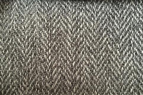Karlstad footstool- Herringbone 9440 grey