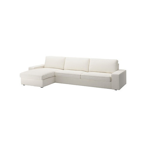 Slipcovers for Kivik 3 seat sofa with chaise lounge: Eco Leather