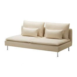 Slipcover for Soderhamn 3 seat sofa bed: Suede