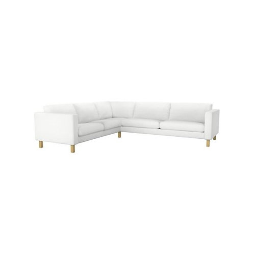 Slipcover for Karlstad 3+2 seat corner sofa: Suede