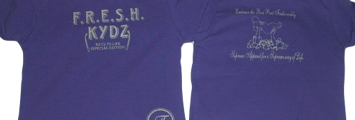 Purple/Platinum Toddler Tee