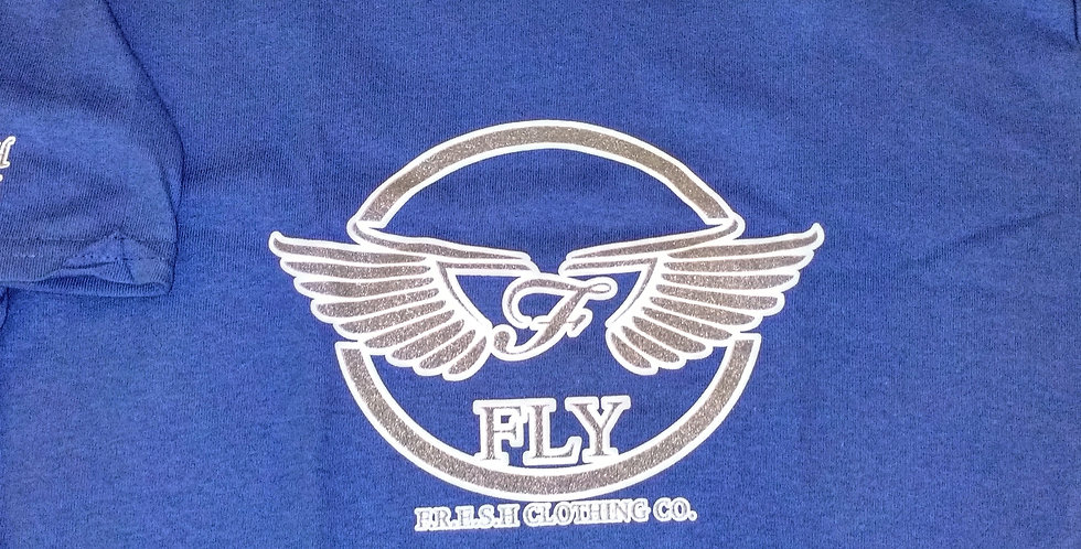 "'WINGZ ON"" - FLY - F.R.E.S.H. KYDZ TEE (ROYAL BLUE & PLATINUM)"
