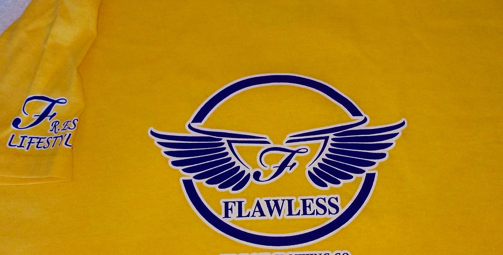 """WINGZ ON"" - FLY - F.R.E.S.H. KYDZ TEE (YELLOW/PURPLE)"