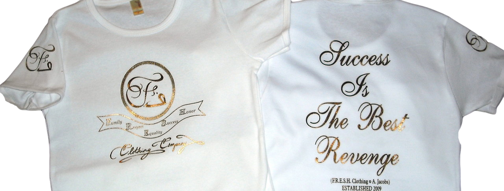 White/Gold F.R.E.S.H. Fitted Tee