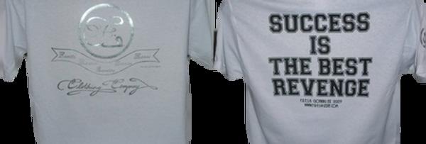 White/Platinum Company Slogan Tee