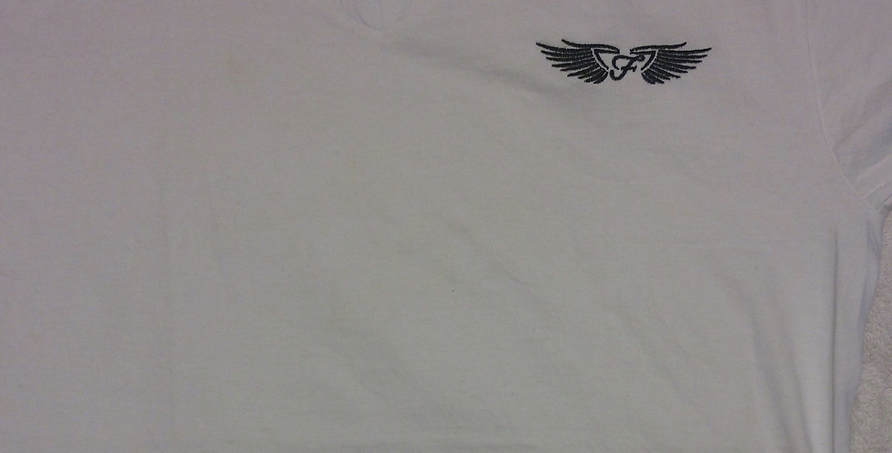 "SUMMER WHITE ""WINGZ ON"" V-NECK"
