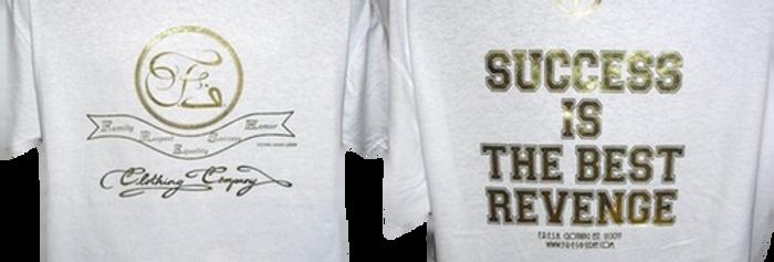 White/Gold Company Slogan Tee